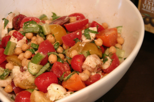 For dinner that night -Panzella salad without the panzella