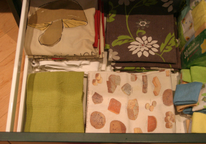 My tidy dishtowel drawer