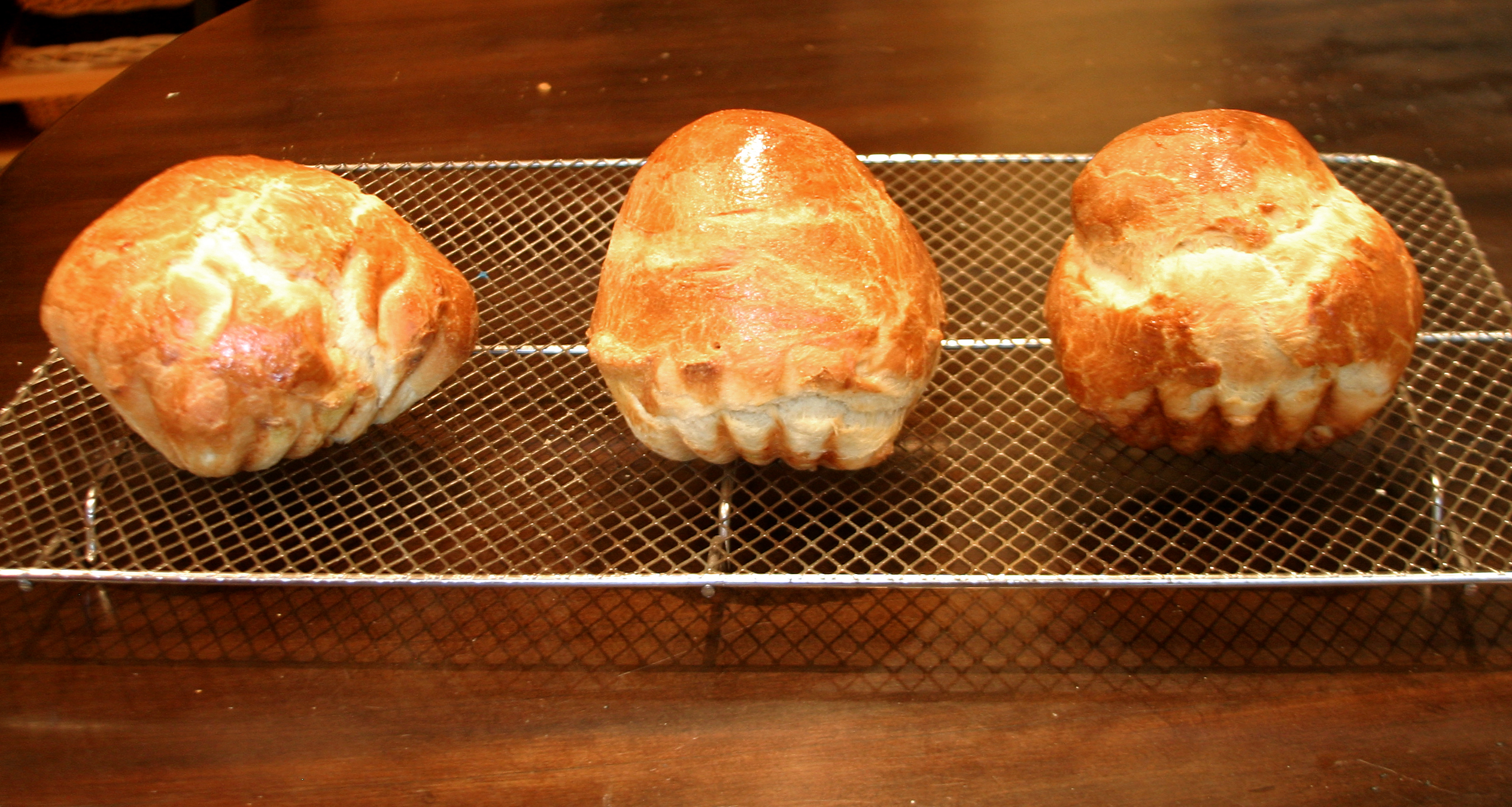 Out of the oven - not identical triplets