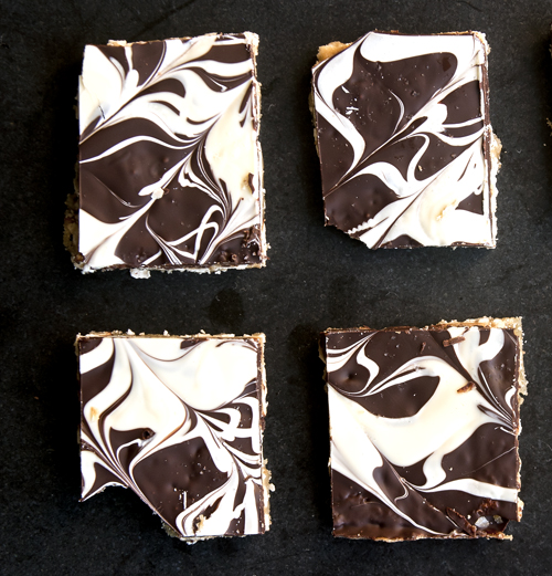 Espresso Caramel Squares With White & Dark Chocolate Swirl Recipes ...