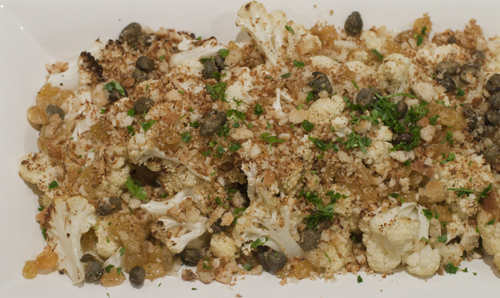 Crispy Cauliflower with Capers, Raisins and Breadcrumbs | Salt and ...
