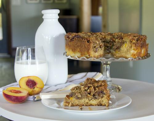 Click here to print the recipe for Peach Praline Coffee Cake.