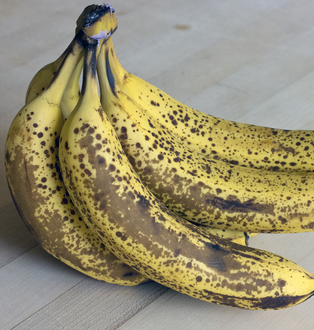 speckled bananas