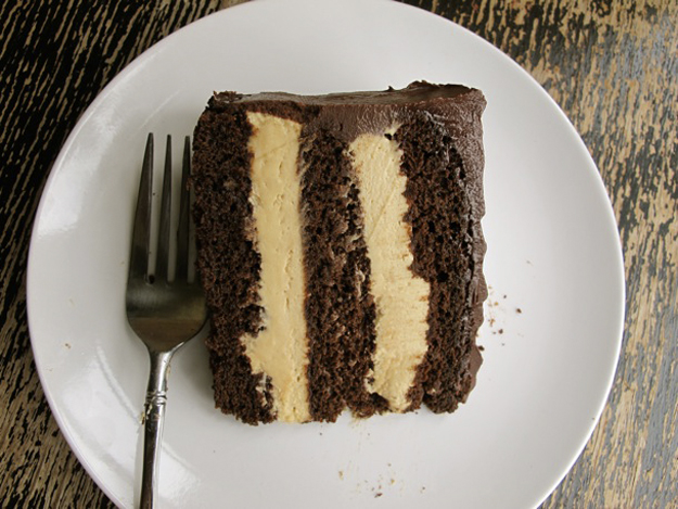 Happy Birthday with Chocolate and Peanut Butter Mousse Cake | Salt and ...