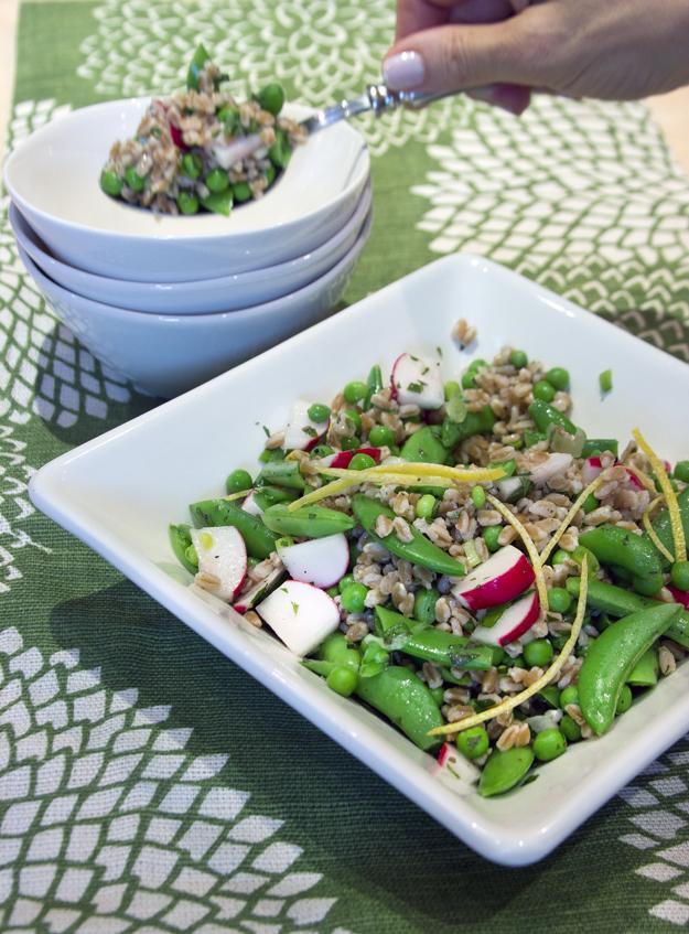 spooning salad