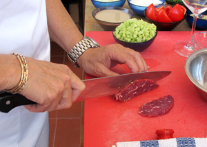 practicing knife skills 1