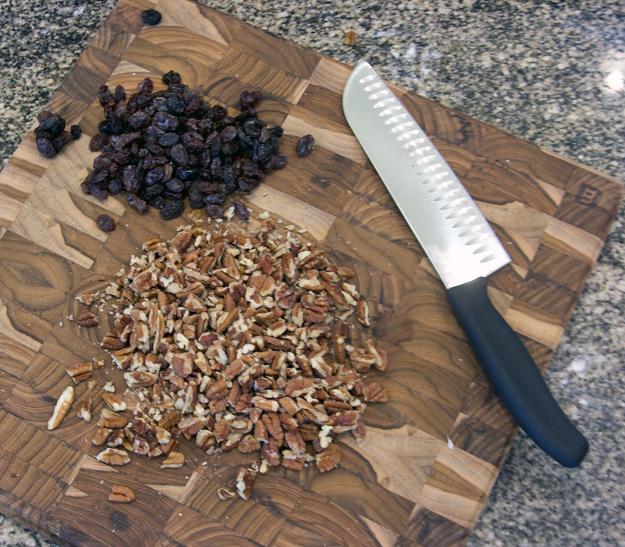 raisins and pecans