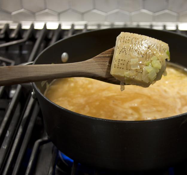 Parmesan rind for flavour
