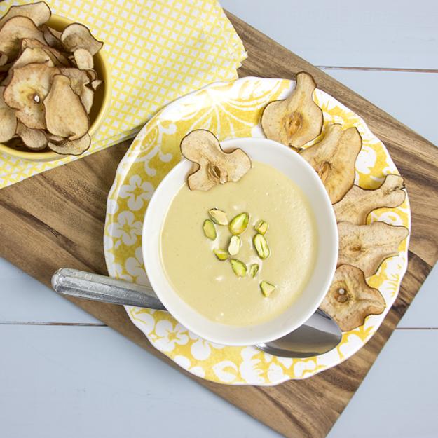 Pear Parsnip pistachio soup 2 625 sq