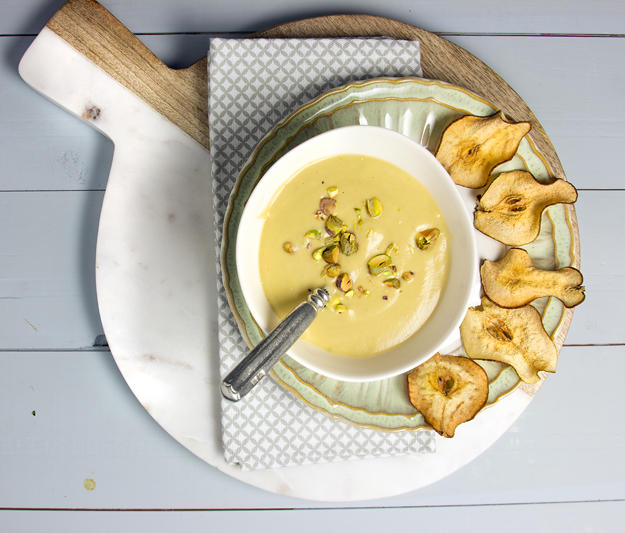 Roasted Apple, Pear & Parsnip Soup Recipe — Dishmaps