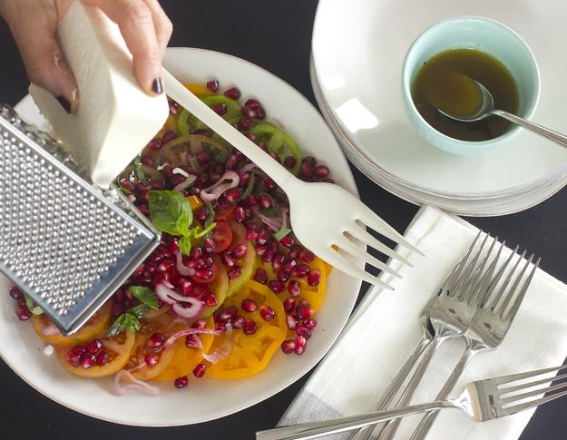 grating ricotta salata