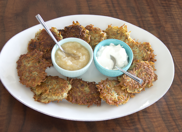 platter of latkes