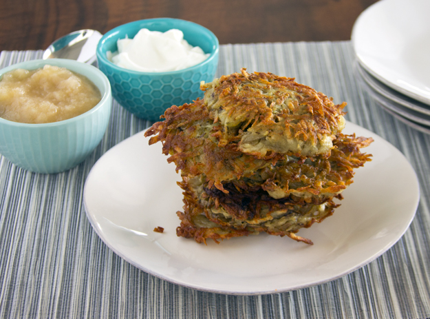 stack of latkes