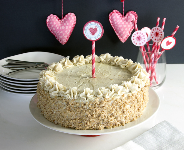 uncut cake landscape
