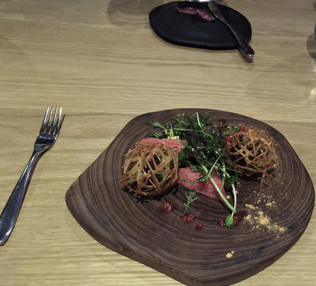 confit tomato and potato tumbleweed 2