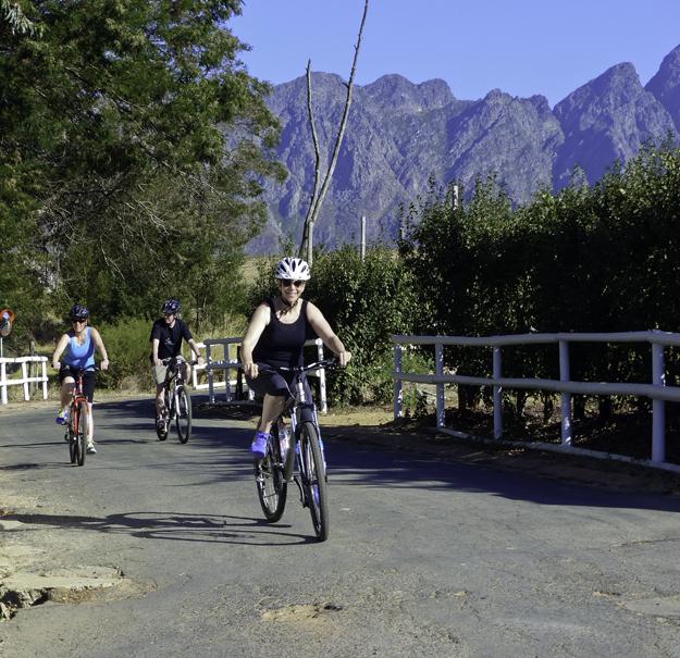 proof of biking in franschhoek