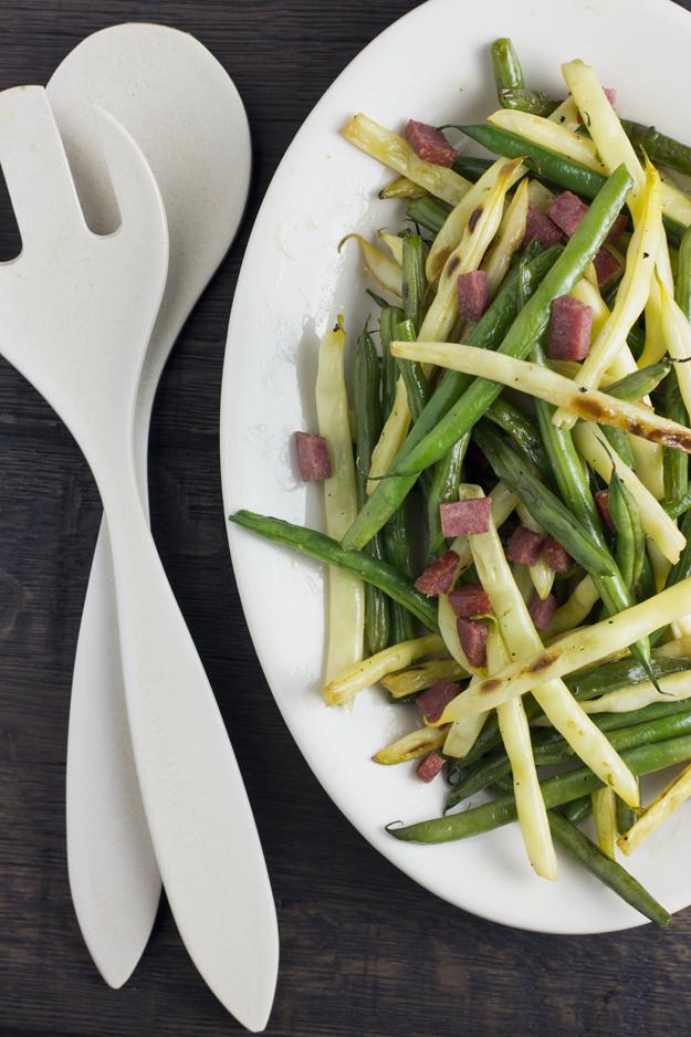 beans on oval platter