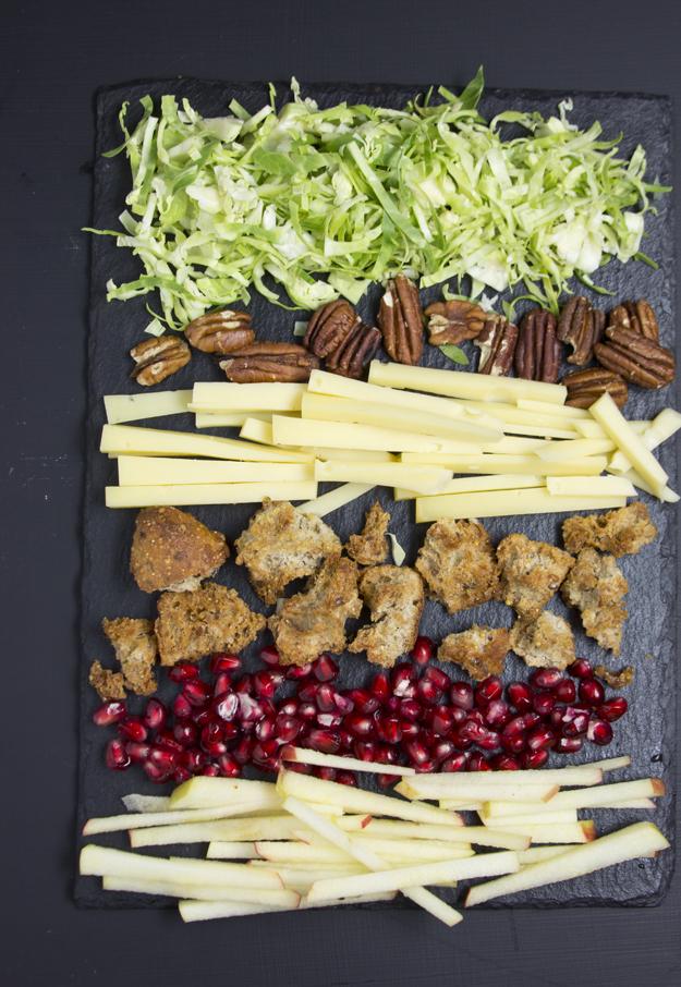 assembling the salad 2