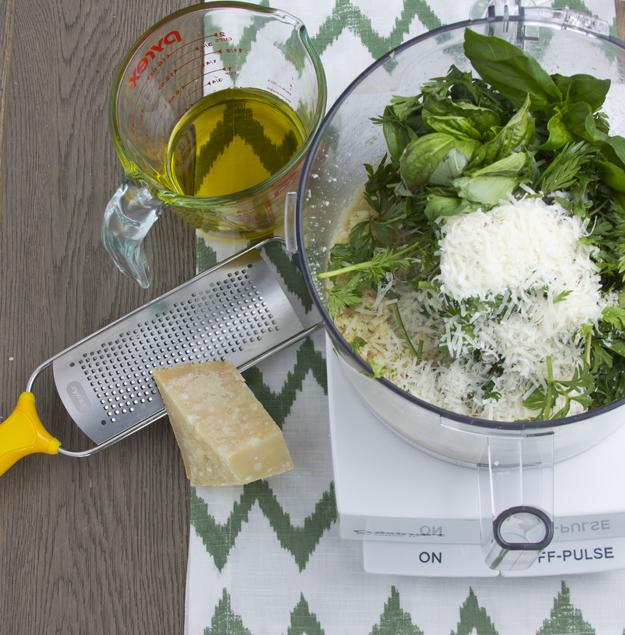 making pesto 1