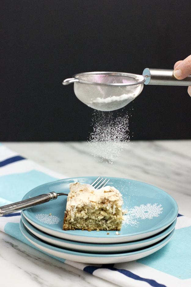 a dusting of icing sugar