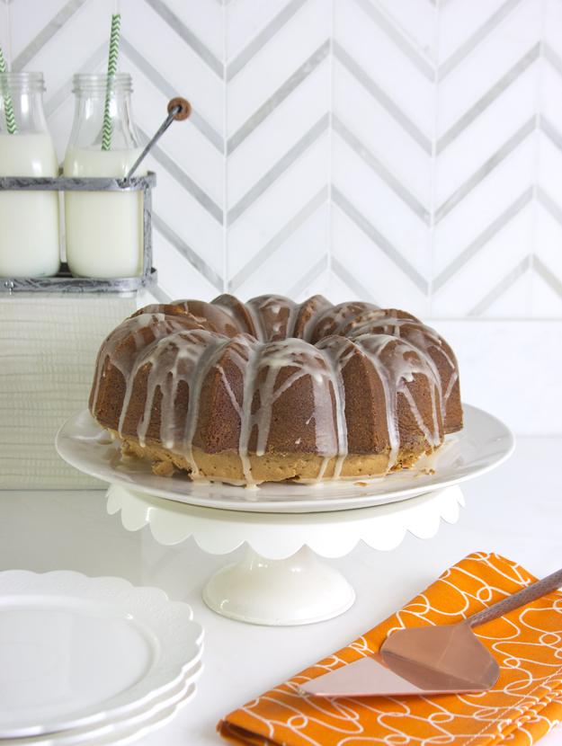 cake on white pedastal