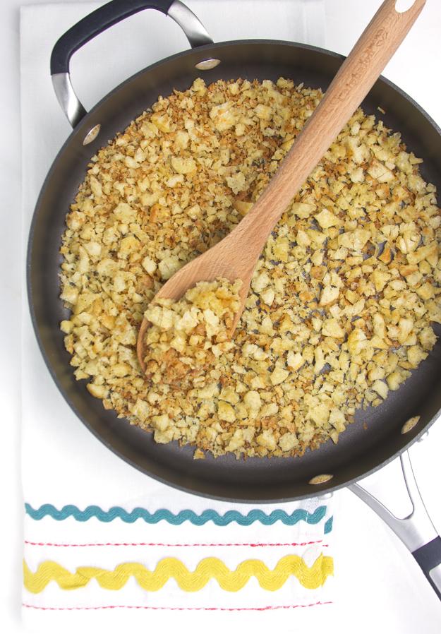 crispy golden crumbs
