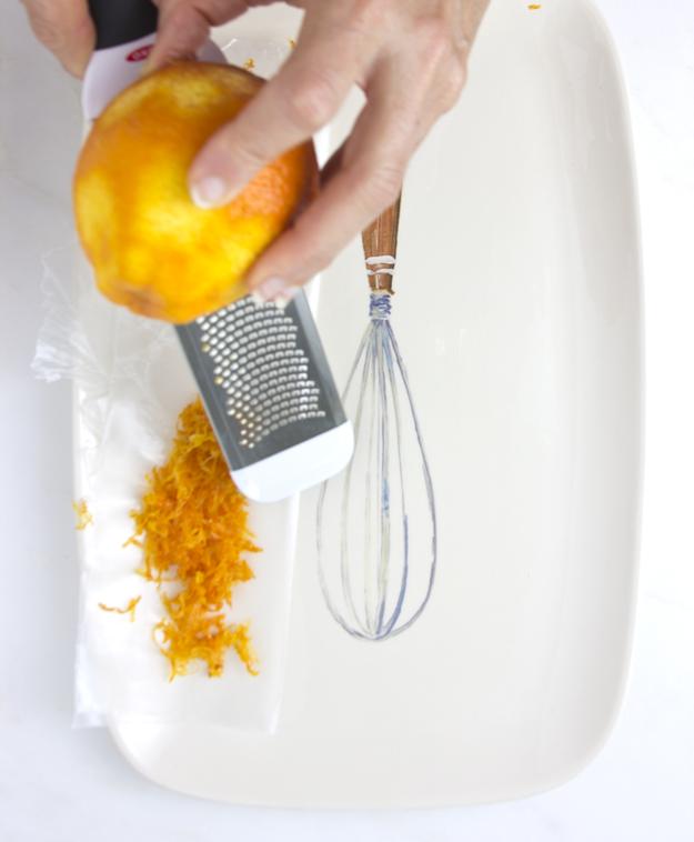 zesting oranges