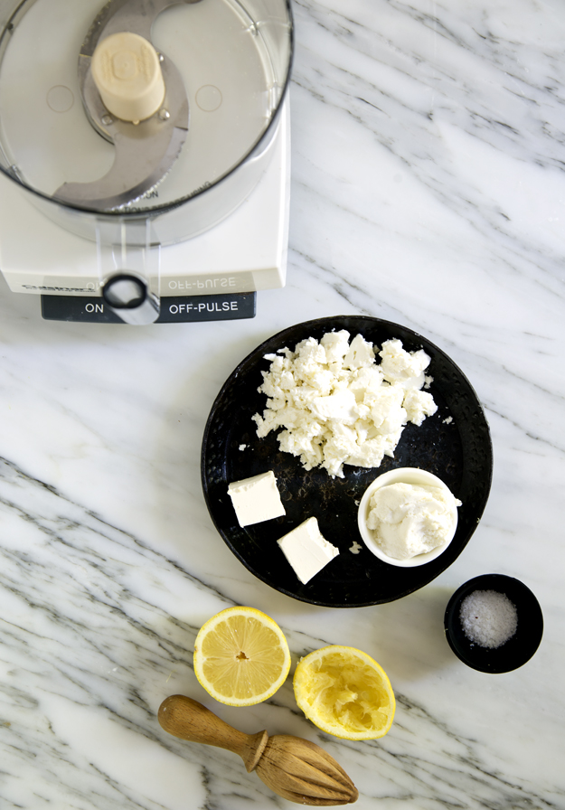 Making whipped Feta-Ricotta
