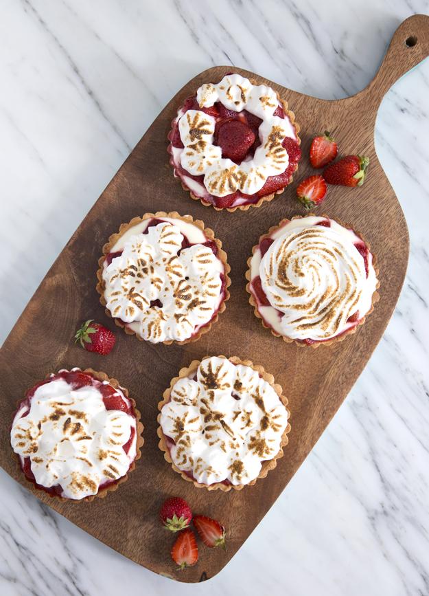 tarts on wooden board 1