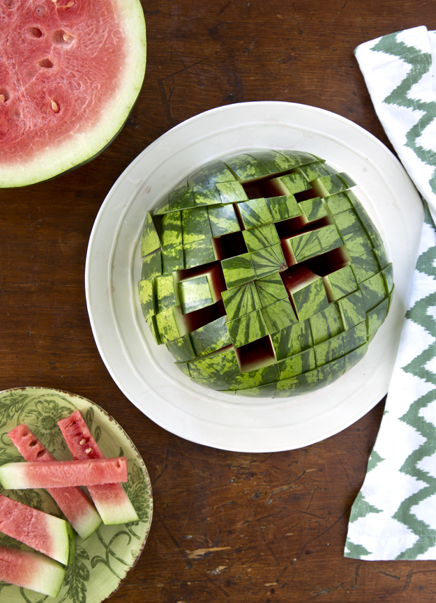 Watermelon jenga