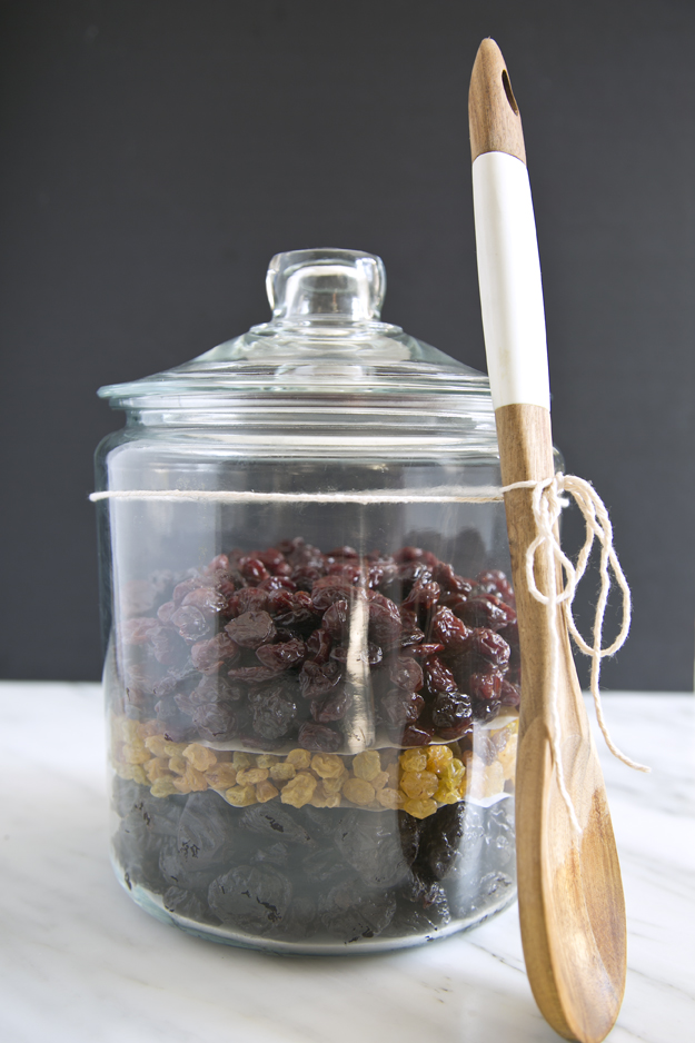dried fruit in jar