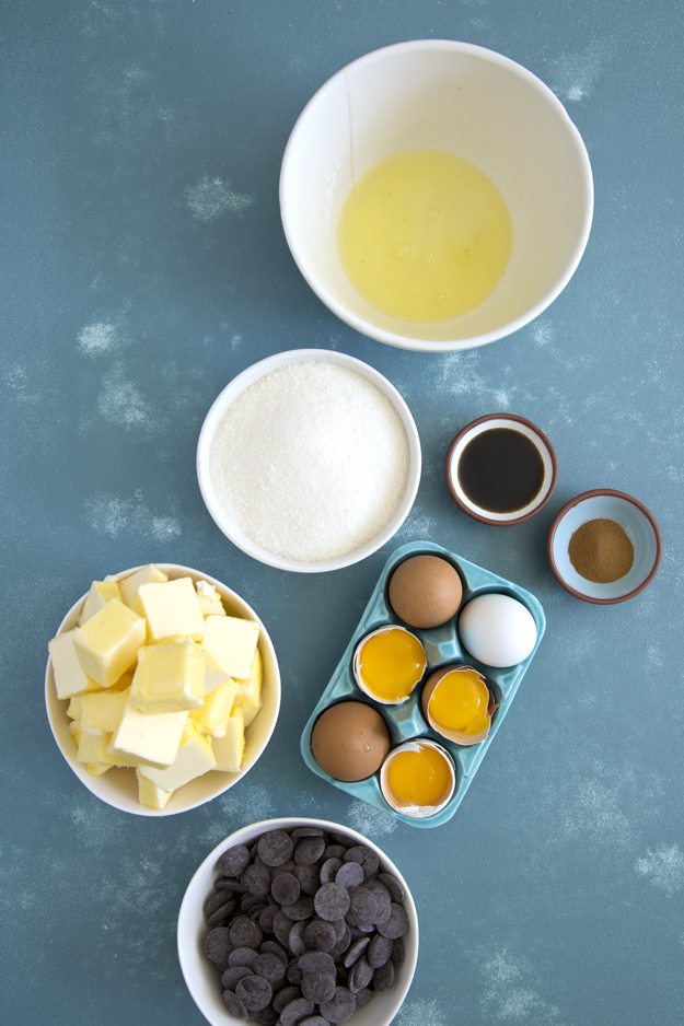 Ingredients for Swiss Meringue Buttercream