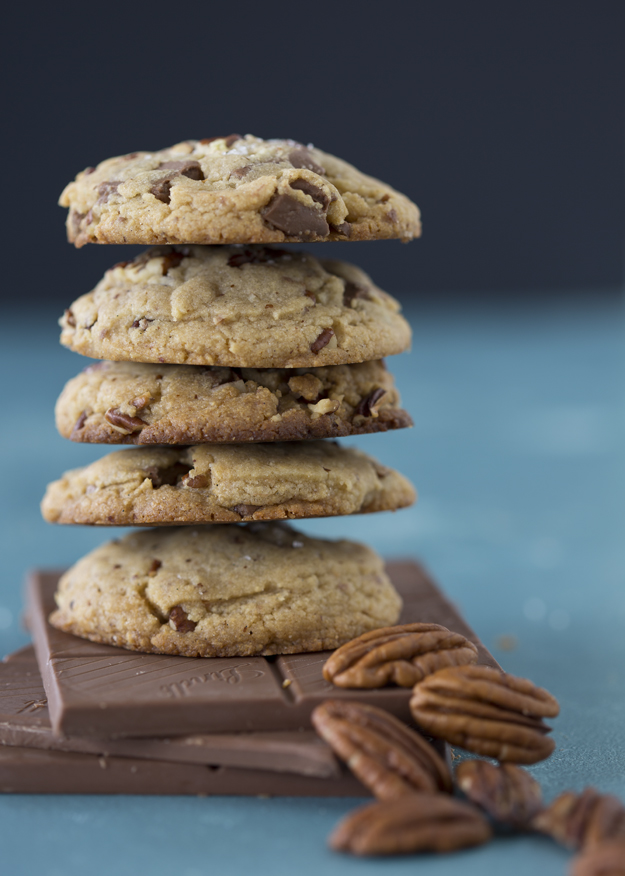 Malted Milk Cookies stacked