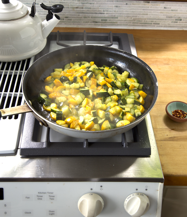 zucchini cooked down to jammy consisitency