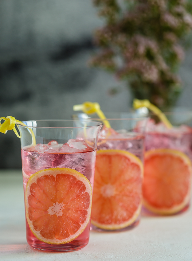with a grapefruit twist