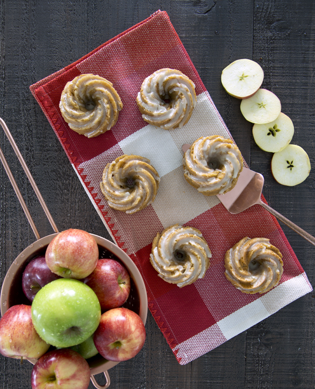 with whole and sliced apples