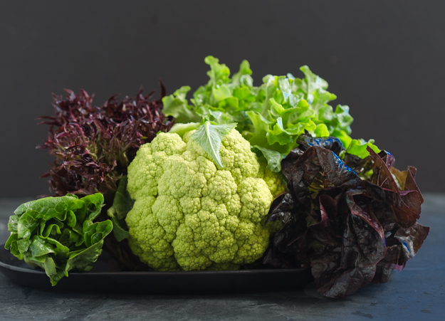 cauliflower and lettuces-2