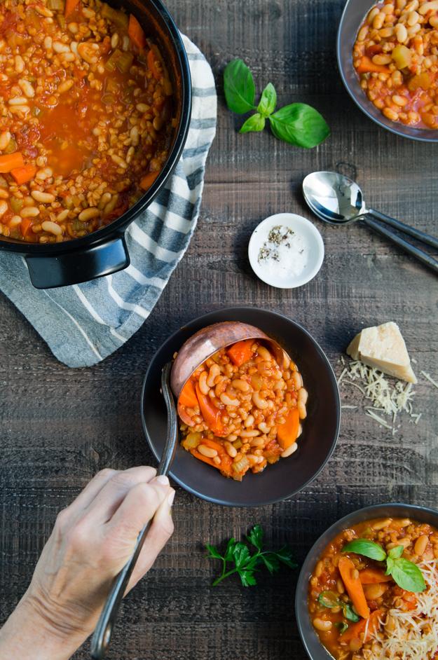 serving soup